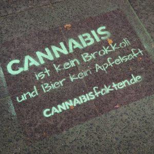Stencil-Schablone cannabisfakten.de