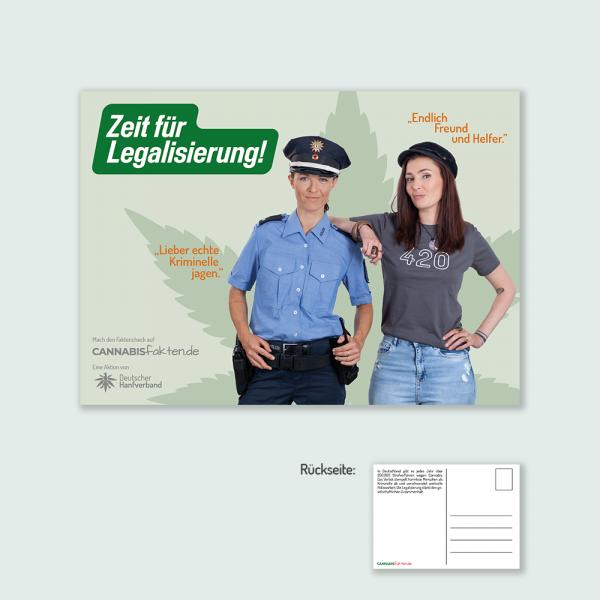 Postkarte Zeit für Legalisierung