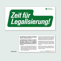 Flyer Zeit für Legalisierung