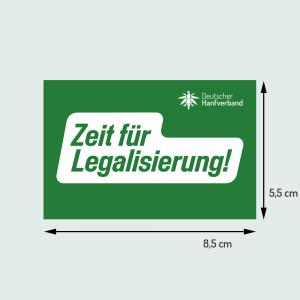 """Aufkleber klein """"Zeit für Legalisierung"""""""